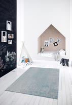 Sixth Floor - Vintage rug - blue mottled