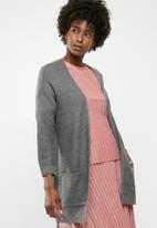 Jacqueline de Yong - 7/8 cardigan knit - grey