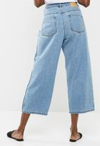 Jacqueline de Yong - Celia high waisted panel cropped jeans - blue