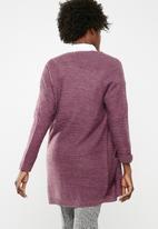 Jacqueline de Yong - 7/8 cardigan knit - purple