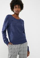 Jacqueline de Yong - Long sleeve pullover knit - blue