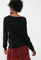 Jacqueline de Yong - Long sleeve pullover knit - black