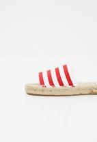Espadril - Espadrille slide - red & white