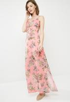 Missguided - Chiffon floral print button down maxi dress - multi
