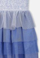 Cotton On - Kids iris tulle dress - blue