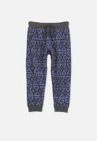 Cotton On - Kids Luca trackpants - blue & black