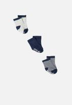 Cotton On - Baby socks 3 pack - blue