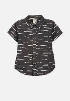 Cotton On - Kids jackson short sleeve shirt - black