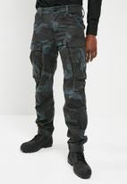 G-Star RAW - Rovic zip 3D straight tapered - blue & black