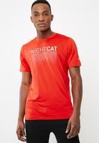 PUMA - Nightcat short sleeve tee - red