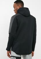 PUMA - Pace trend inserts full zip hoodie - black