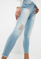 Jacqueline de Yong - Skinny Clari ankle jeans - blue
