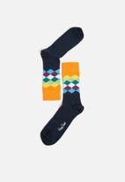 Happy Socks - Faded diamond socks - multi