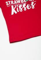dailyfriday - Kids girls printed swing tee - red