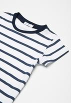 dailyfriday - Kids girls striped shift dress - navy & white