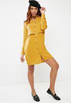 dailyfriday - Double layer shirt dress - yellow