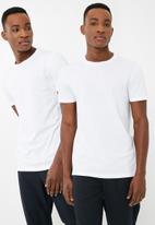 Superbalist - Crew neck tee 2 pack - white