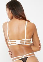 New Look - Strapping contrast cradle bra - black
