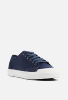 basicthread - Canvas  sneaker - navy