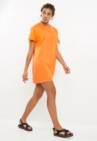 Noisy May - Lily sweat dress - orange