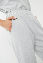 Noisy May - Sara culotte sweat pants - grey