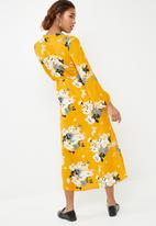 ONLY - Mie long sleeve maxi dress- multi