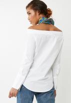 ONLY - Amanda off shoulder shirt - white