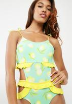 Vero Moda - Yucca swimsuit - yellow & blue