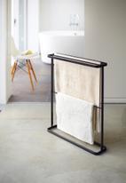 Yamazaki - Tower bath towel hanger - black