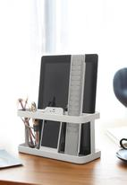 Yamazaki - Tower tablet & remote control rack - white