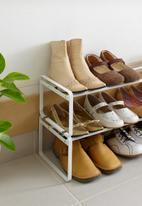 Yamazaki - Expandable 1 tier shoe rack - white