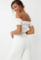 Vero Moda - Gaston off shoulder top - white
