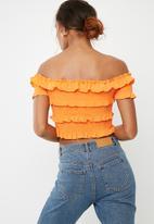 Vero Moda - Gaston off shoulder top - orange