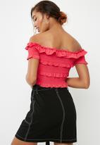 Vero Moda - Gaston off shoulder top - pink