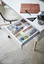 Yamazaki - Tower extendable desk organizer - white