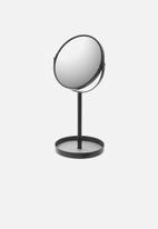 Yamazaki - Tower make up mirror with accessory tray - black
