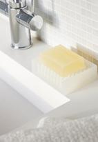 Yamazaki - Float silicone soap tray - white