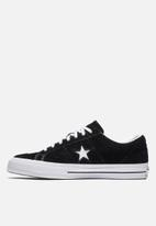 Converse - One star ox - black/white/white