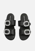 Vero Moda - Melo leather sandal - black