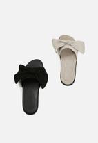 Vero Moda - Bow leather sandal - black