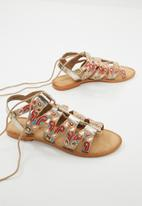 Vero Moda - Tyra leather sandal - multi