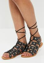 Vero Moda - Tyra leather sandal - black
