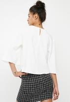 Superbalist - Cropped button detail blouse - white