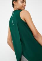 Superbalist - Turtle neck blouse with wrap back - green