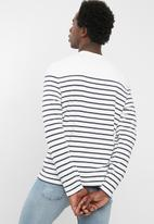 Levi's® - Mission stripe long sleeve tee - white & black