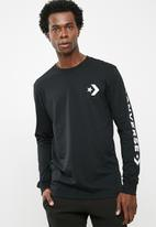 Converse - Star chevron tee - black
