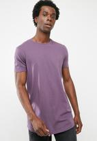 Superbalist - Curved hem longline tee - purple