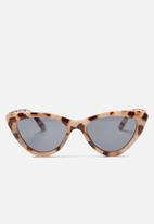 Cotton On - Narrah short frame cateye - brown & cream