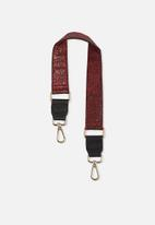 Cotton On - Short bag strap - red