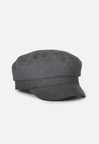 Cotton On - Bailey baker boy cap - charcoal